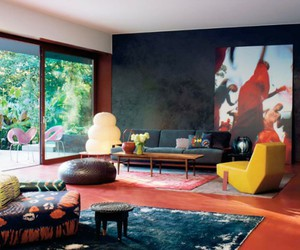colorful, room, and home design image