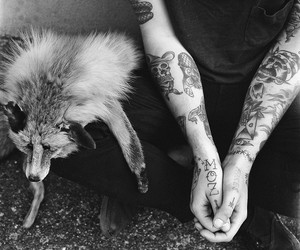 black and white and tattoo image