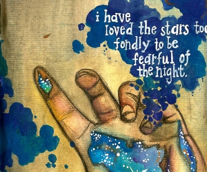 art, quote, and stars image