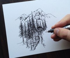 trees and drawing adorable image