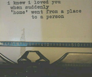 love, quote, and home image