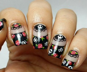 fashion, nails art, and death day image