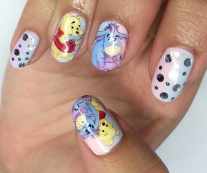 winnie pooh, nails art, and cute image