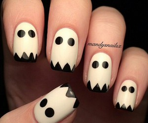 ghost, simple, and nails art image