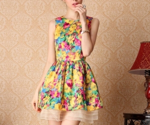 cute dress, flowers, and girl image