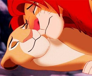 cartoon, disney, and lion of king image