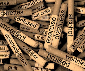 anorexia, self harm, and bulimia image