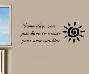 home decor, quote, and sunshine image