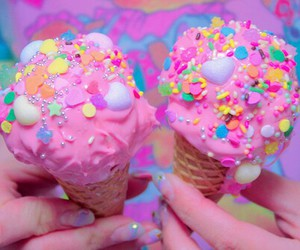 delicious, ice cream, and pink image