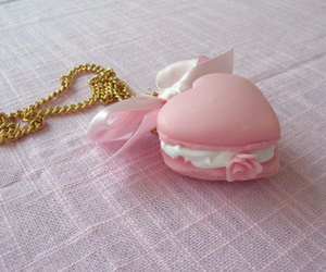 pink, heart, and necklace image