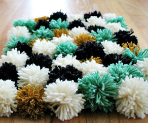 diy, POM, and rug image