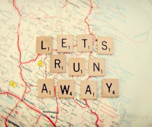 map, run away, and quote image