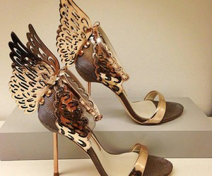 butterfly, fashion, and heels image