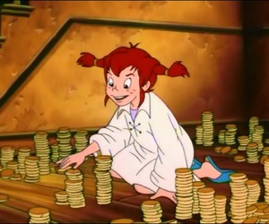 cartoon, childhood, and coins image