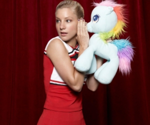 glee, heather morris, and brittany image