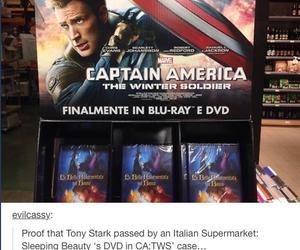 captain america, Marvel, and tony stark image