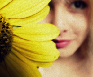 amarillo, flor, and blonde image