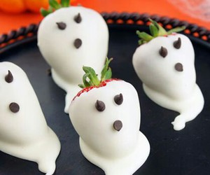 ghost, Halloween, and strawberry image