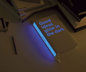 art, book, and glow image