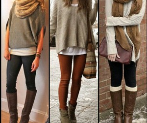 outfit, boots, and winter image