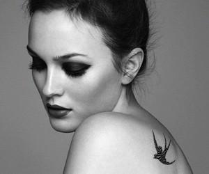 leighton meester, tattoo, and gossip girl image