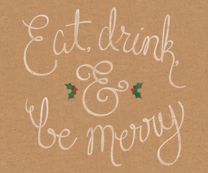 christmas, drink, and eat image