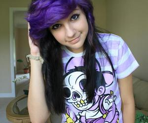 hair, purple hair, and cute image