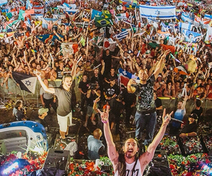 steve aoki, festival, and party image