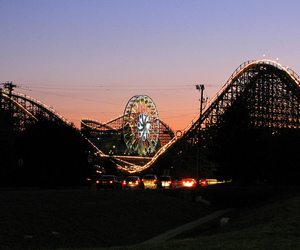 lights, Roller Coaster, and hershey image