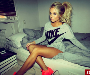 nike, girl, and blonde image