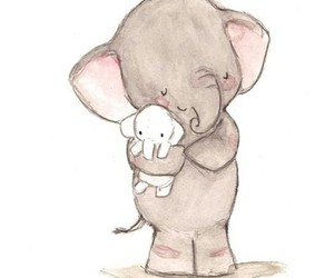 elephant, drawing, and cute image
