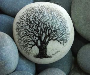 art, tree, and stone image
