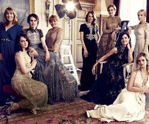 downton abbey, lily james, and michelle dockery image