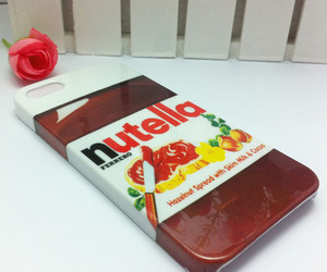 nutella, iphone, and food image