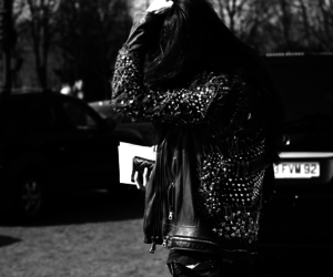 leather jacket and studs image