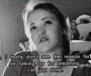sad, cyberbully, and emily osment image