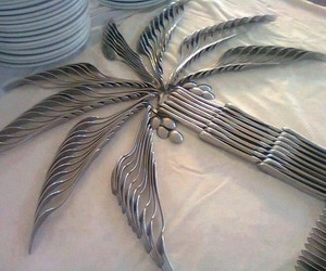 art, cutlery, and fork image