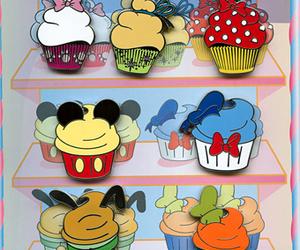 cupcake, pins, and disney image