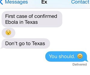 ex, funny, and ebola image