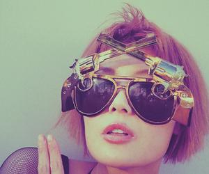 fashion, gun, and glasses image