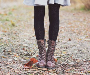 fashion, boots, and autumn image