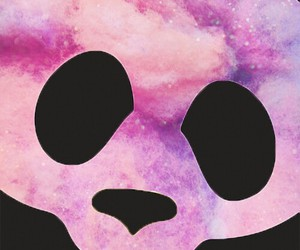 panda and galaxy image