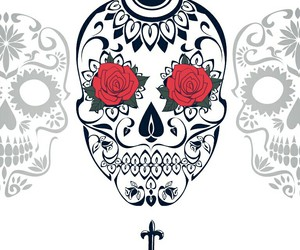 cross, day of the dead, and Halloween image