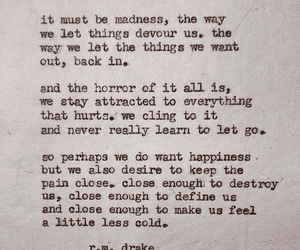 quote, pain, and madness image