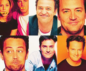 chandler bing, Matthew Perry, and friends image