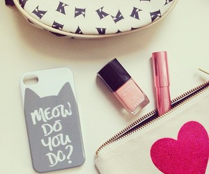 girly, pink, and make up image