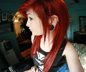 girl, photography, and piercing image