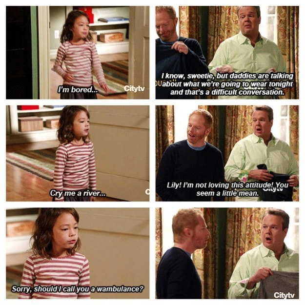 lily, cameron tucker, and modern family image