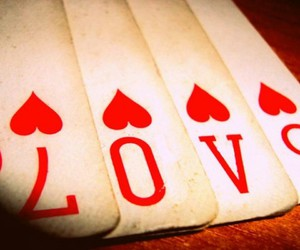 love, cards, and heart image