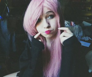 alternative, colorful hair, and girl image